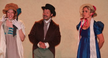Ashley Wickett as Mary Musgrove, Mark Montague as Charles Musgrove and Jenny Strassburg as Anne