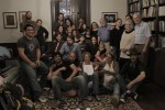 """Some of the cast and crew and other FARM STORY in the """"Warden's Office"""" set on our last day of filming."""