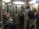 Shootin' on the subway...