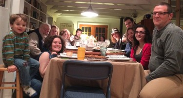 Some of the aforementioned friends and family at our Thanksgiving Dinner...